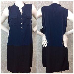 ☂️Alfani Blue Black Color Black Sheath Dress